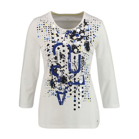 Gerry Weber Abstract Printed Top White  - Click to view a larger image