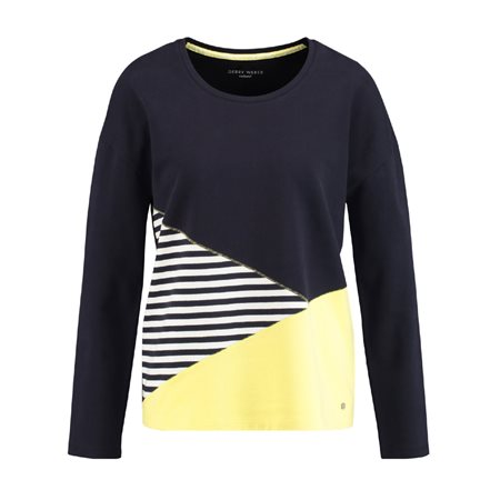 Gerry Weber Colour Block Top Blue  - Click to view a larger image