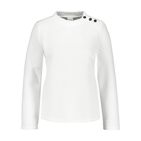 Taifun Textured Jersey Jumper White  - Click to view a larger image