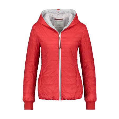 Taifun Lightly Quilted Coat Red  - Click to view a larger image