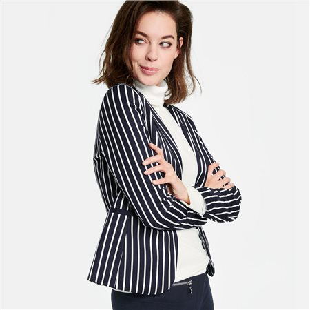 Taifun Smart Striped Blazer Navy  - Click to view a larger image