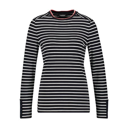 Taifun Striped Top Navy  - Click to view a larger image