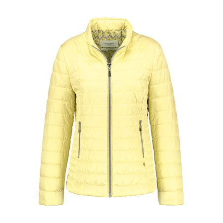 Gerry Weber Lightly Quilted Jacket Light Yellow  - Click to view a larger image