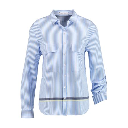 Gerry Weber Cotton Striped Shirt Blue  - Click to view a larger image