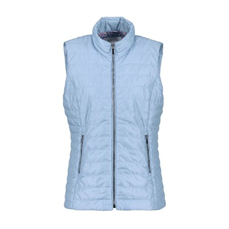 Gerry Weber Pastel Padded Gilet Blue  - Click to view a larger image