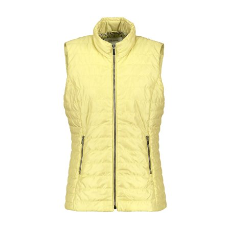 Gerry Weber Pastel Padded Gilet Light Yellow  - Click to view a larger image