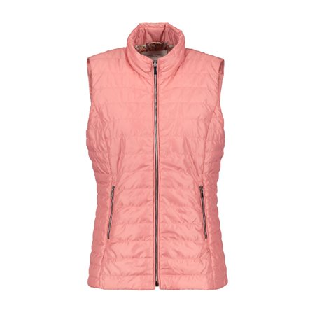 Gerry Weber Pastel Padded Gilet Orange  - Click to view a larger image