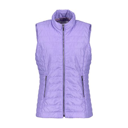 Gerry Weber Pastel Padded Gilet Purple  - Click to view a larger image