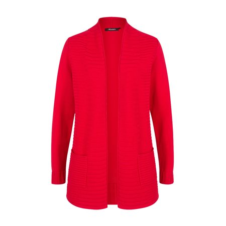 Olsen Edged Cardigan Red  - Click to view a larger image