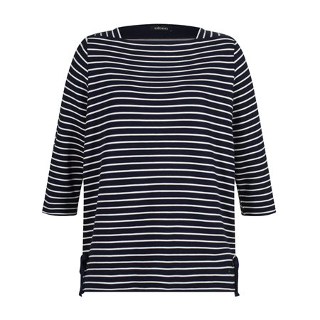 Olsen Striped Jumper With Ties Blue  - Click to view a larger image