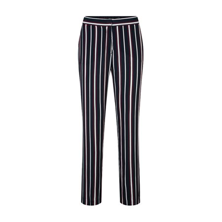 Olsen Striped Wide Leg Trousers Blue  - Click to view a larger image