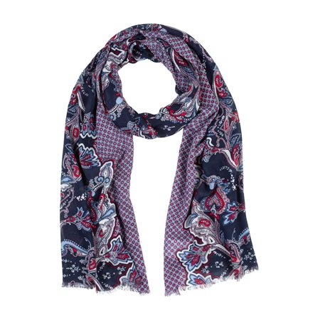 Olsen Paisley Print Scarf Blue  - Click to view a larger image