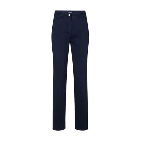 Olsen Mona Slim Leg Trouser Blue  - Click to view a larger image