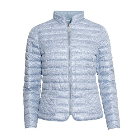 Lebek Printed Reversible Down Coat Blue  - Click to view a larger image