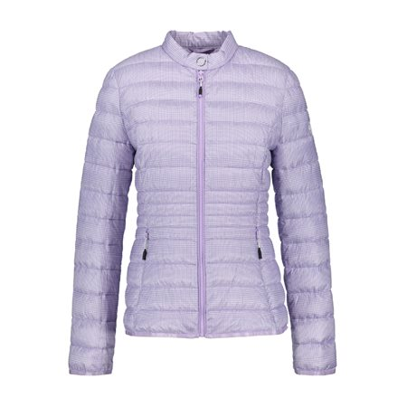 Gerry Weber Lightly Quilted Checked Coat Lilac  - Click to view a larger image