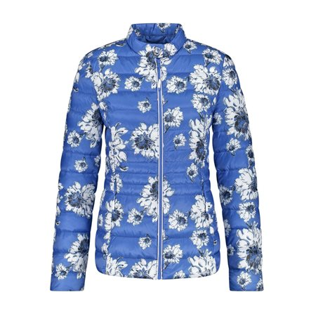 Gerry Weber Quilted Floral Jacket Blue  - Click to view a larger image