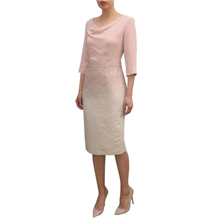 Fee G Crepe Detailed Dress Blush  - Click to view a larger image