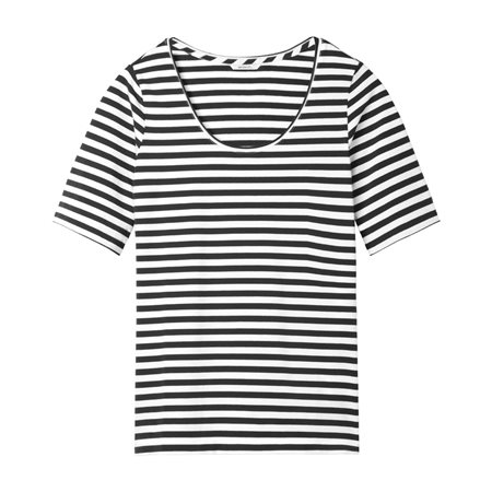 Sandwich Striped Top Black  - Click to view a larger image
