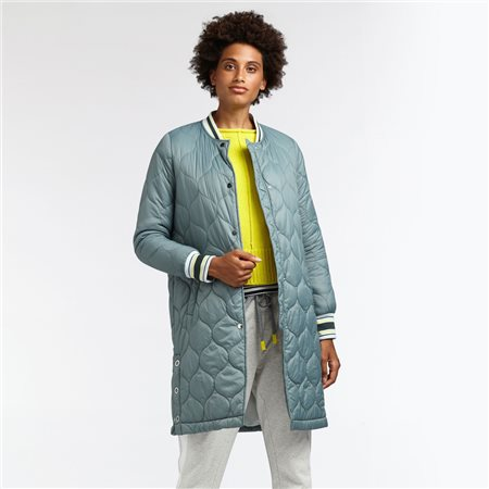 Sandwich Lightly Quilted Coat Green  - Click to view a larger image