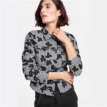 Gerry Weber Floral Spotty Jacket Black  - Click to view a larger image