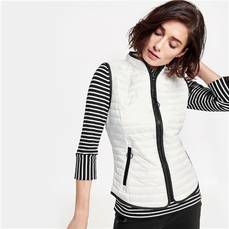 Gerry Weber Contrast Piping Gilet White  - Click to view a larger image