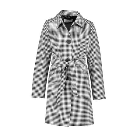Gerry Weber Gingham Check Coat Black  - Click to view a larger image