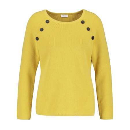 Gerry Weber Button Detailed Jumper Lemon  - Click to view a larger image