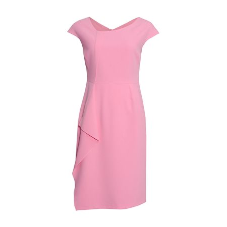 Fee G Fitted Dress With Layered Detail Pink  - Click to view a larger image