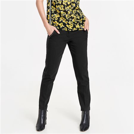Gerry Weber Contrast Stitch Trousers Black  - Click to view a larger image