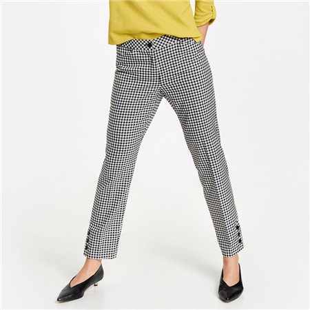 Gerry Weber Gingham Check Trousers Black  - Click to view a larger image