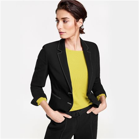 Gerry Weber Contrast Stitch Blazer Black  - Click to view a larger image