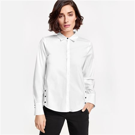 Gerry Weber Balloon Sleeve Blouse White  - Click to view a larger image