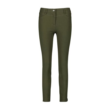 Taifun Super Skinny Stretch Trousers Olive  - Click to view a larger image