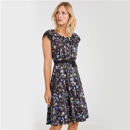 Taifun Slinky Floral Print Dress Black  - Click to view a larger image