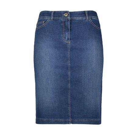 6cf8a187d4 Gerry Weber Stretch Skirt Denim Blue   Jonzara.com