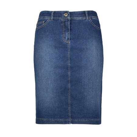 Gerry Weber Stretch Skirt Denim Blue  - Click to view a larger image