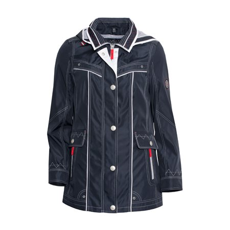 Lebek Weatherproof Coat Navy  - Click to view a larger image