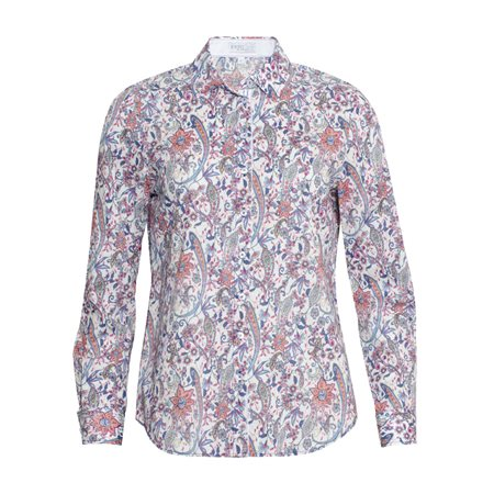 Erfo Floral Print Shirt Blue  - Click to view a larger image