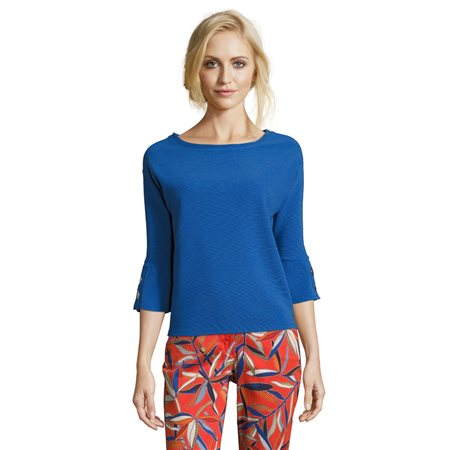 Betty Barclay Fine Ribbed Sweater Blue  - Click to view a larger image