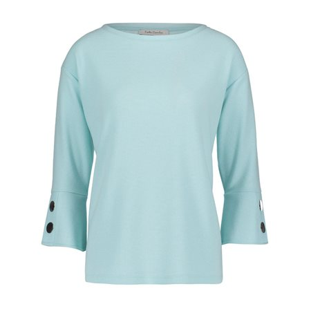 Betty Barclay Fine Ribbed Sweater Light Blue  - Click to view a larger image