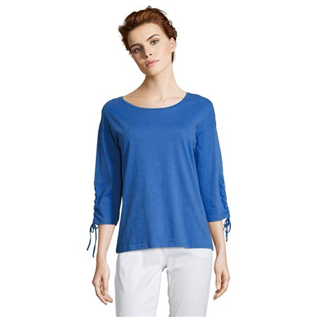 Betty Barclay Tie Cuff Top Blue  - Click to view a larger image