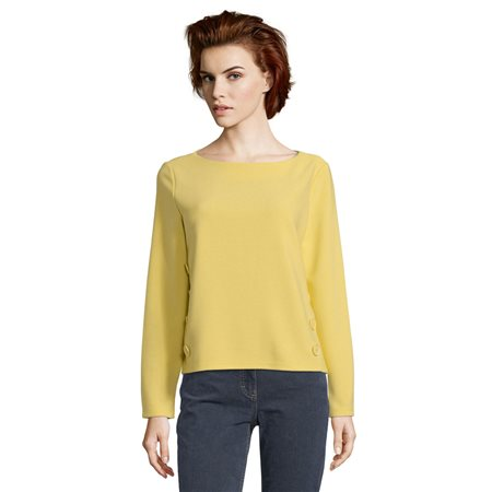 Betty Barclay Button Trimmed Jumper Yellow  - Click to view a larger image