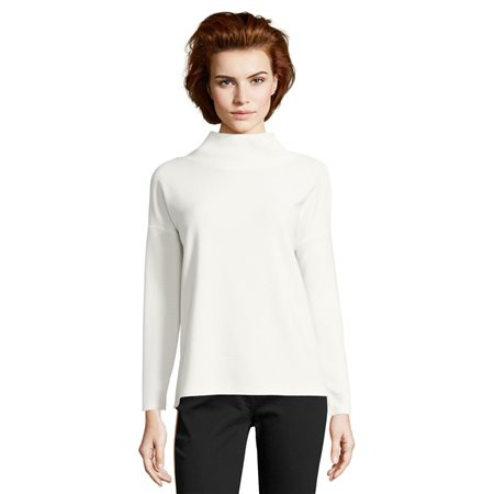 Betty Barclay Cowl Neck Jumper White  - Click to view a larger image