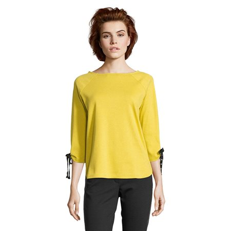 Betty Barclay Metallic Stripe Top Yellow  - Click to view a larger image