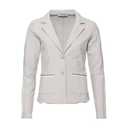 Monari Casual Blazer With Diamante Detail Grey  - Click to view a larger image