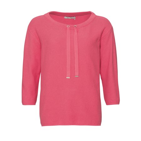 Monari Knitted Jumper With Drawstring Neckline Pink  - Click to view a larger image