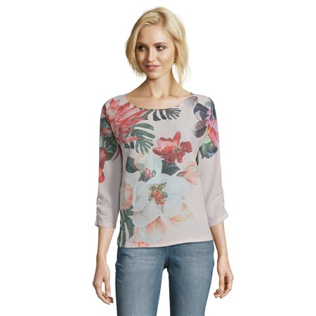 Betty & Co Floral Printed Top Pink  - Click to view a larger image