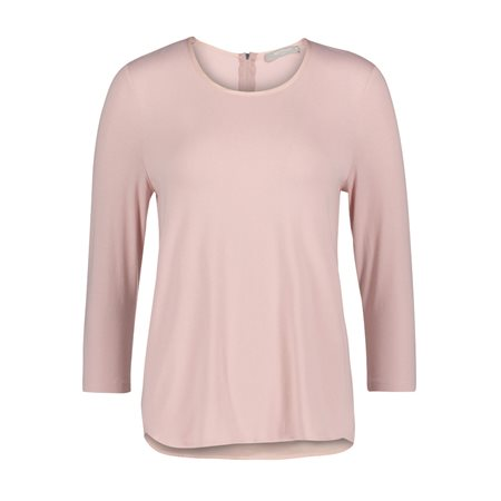 Betty & Co Jersey And Satin Top Pink  - Click to view a larger image