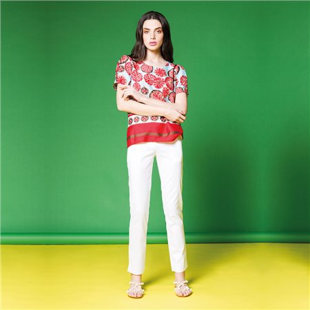 Anonyme India 3/4 Length Trousers White  - Click to view a larger image