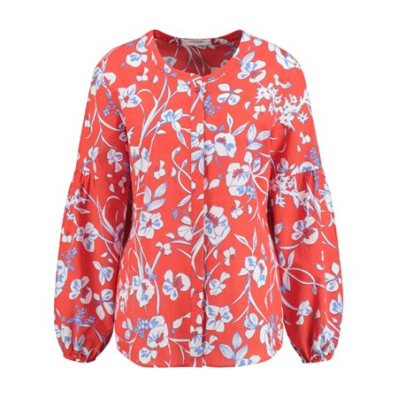 Gerry Weber Bright Floral Blouse Red  - Click to view a larger image